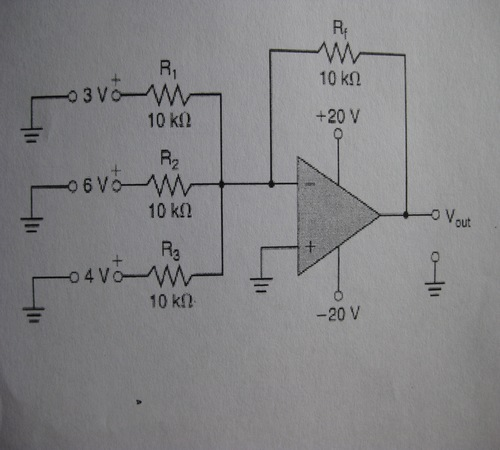 Determine Vout for the circuit below.