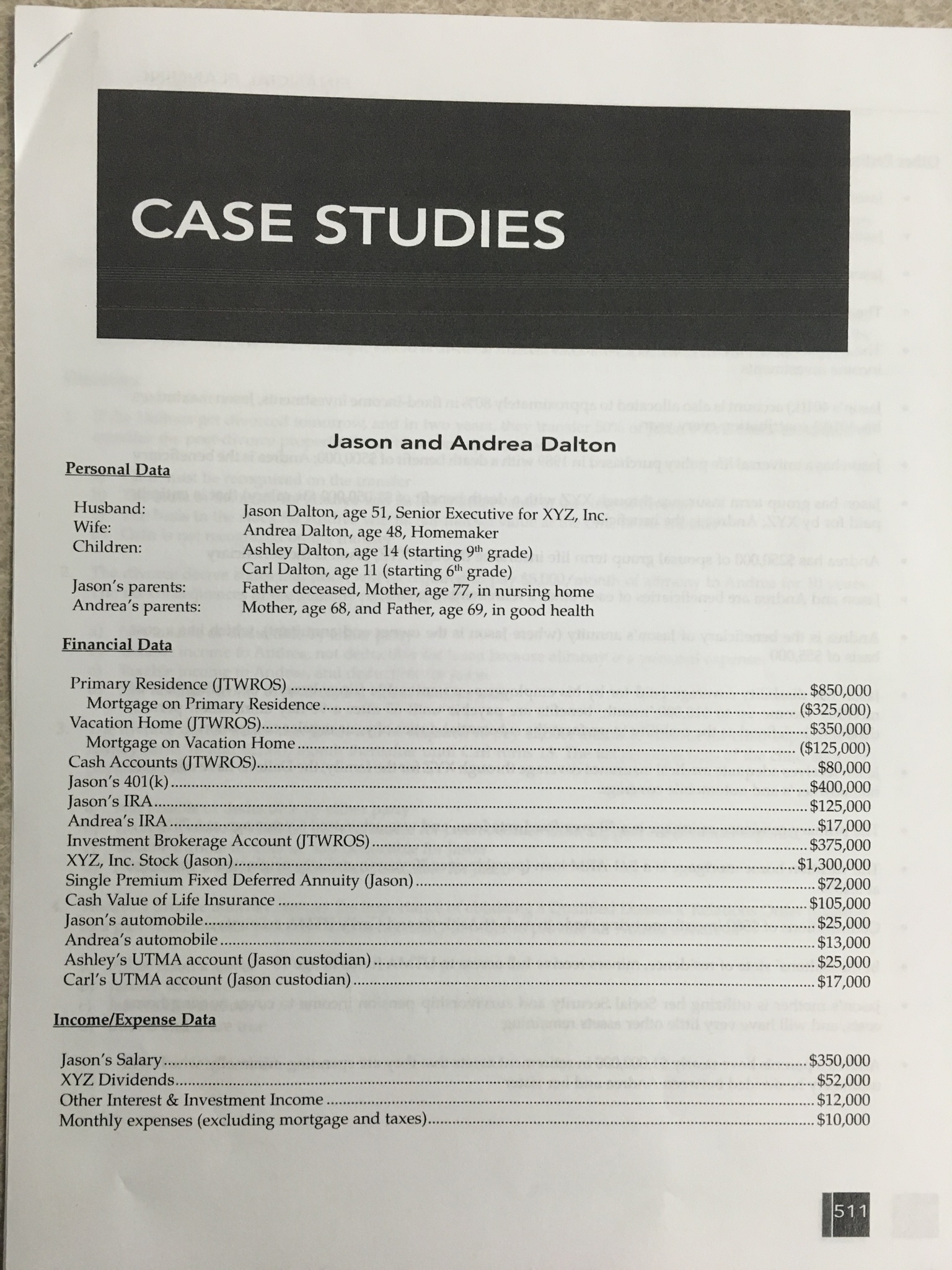 Personal Finance Case Study