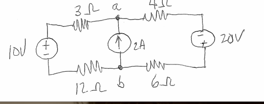 a) find the power balance in the circuit b)find th