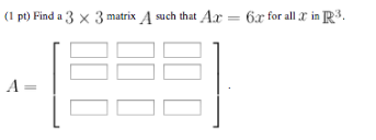how to find ax of a matrix