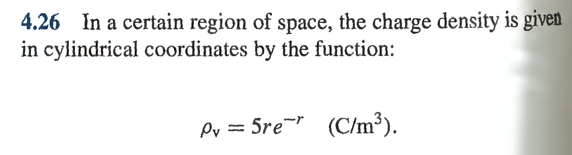 In a certain region of space, the charge density i