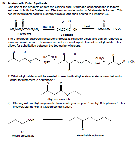 Acetoacetic Ester Synthesis One use of the produc