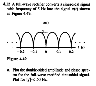 A full-wave rectifier converts a sinusoidal signal