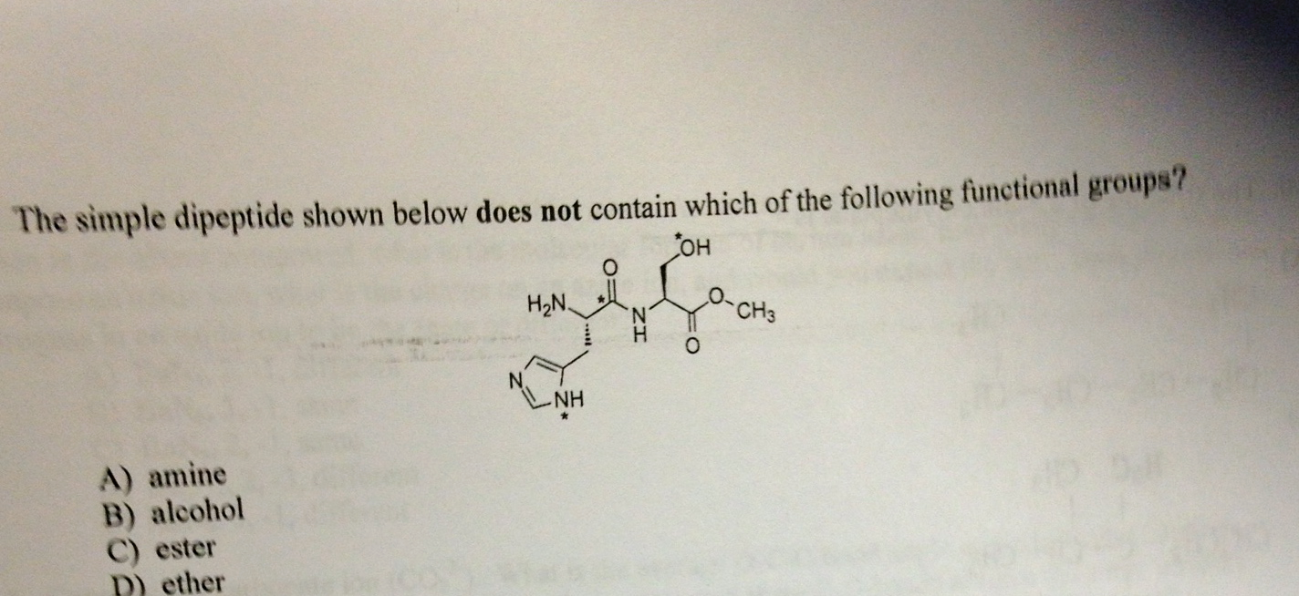 The simple dipeptide shown below does not contain