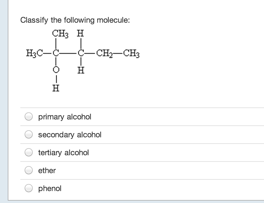 Classify the following molecule: primary alcohol