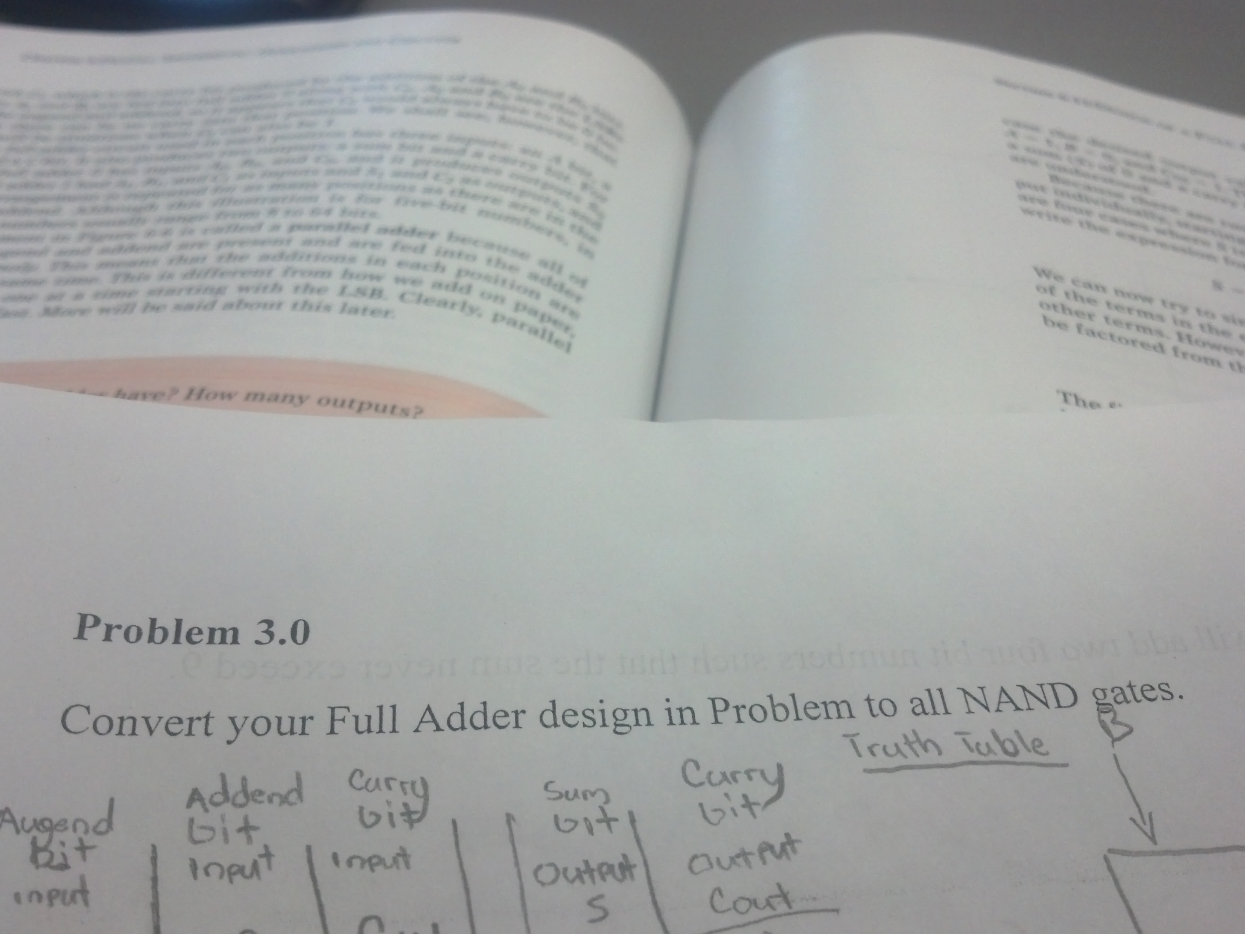 Convert your Full Adder design in Problem to all N