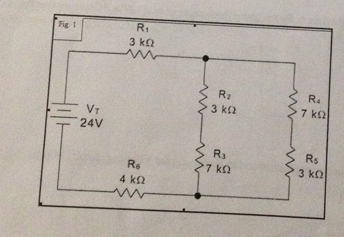 from the following circuit below determine the fol