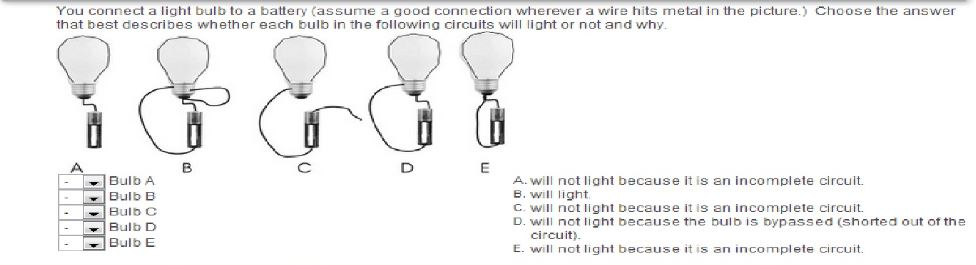 Question You Connect A Light Bulb To Battery Assume Good Connection Wherever Wire Hits Metal In The