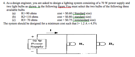 As a design engineer, you are asked to design a li