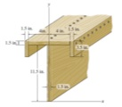 Locate the centroid of this beam?
