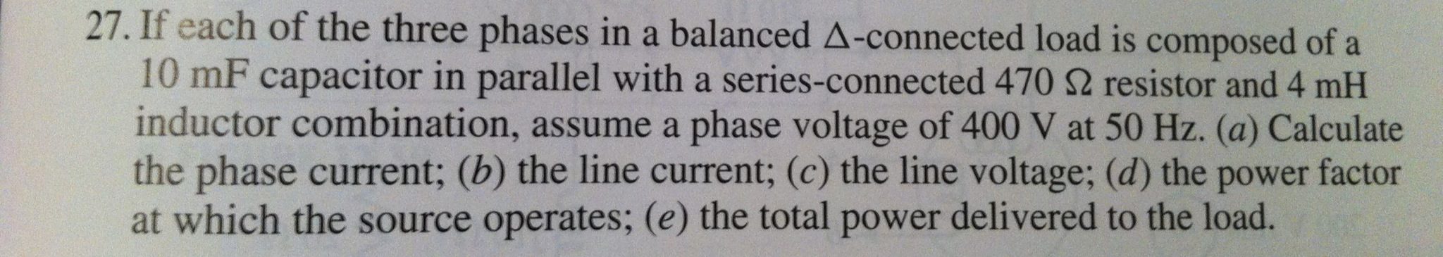 If each of the three phases in a balanced -connec
