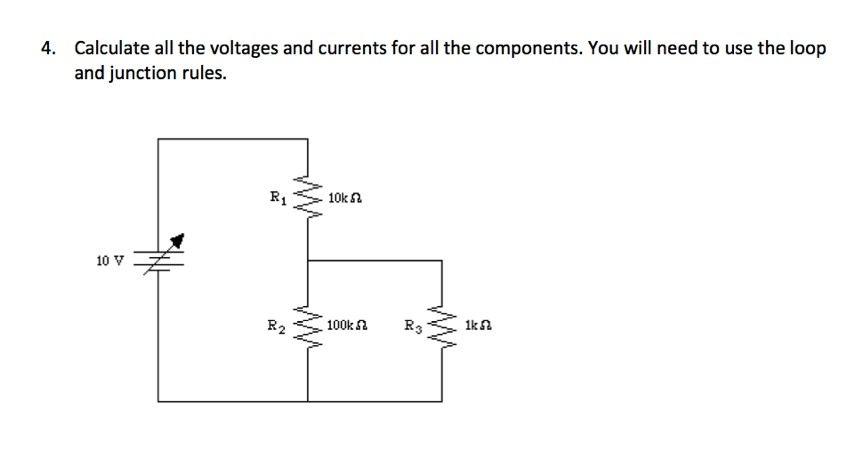 Calculate all the voltages and currents for all th