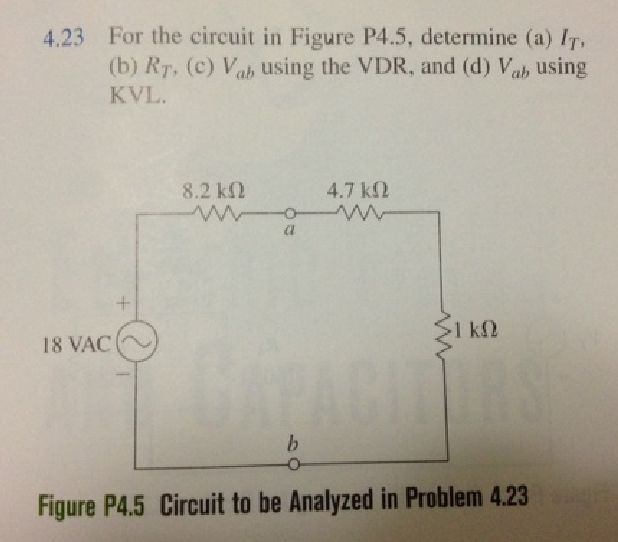 For the circuit in Figure P4.5, determine (a) IT,