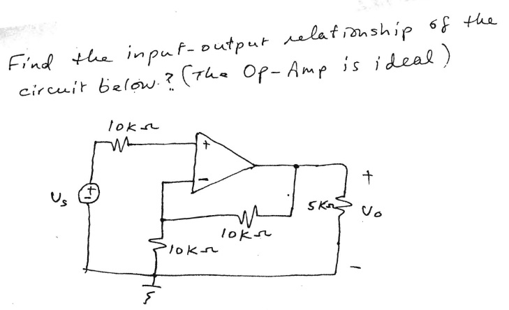 Find the input-output relationship of the circuit