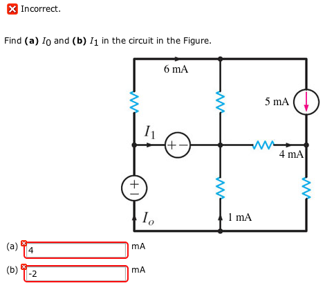 Find (a) I0 and (b) I1 in the circuit in the Figur