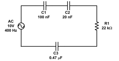 4) Diagram the equivalent impedance, Z, for the ci