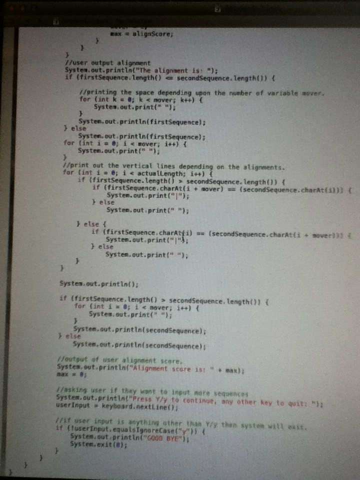 Okay, so the code I typed looks pretty good. Somet