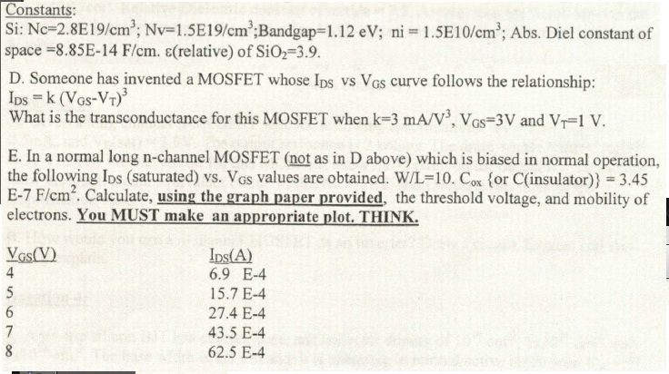 si  nc 2 8e19  cm3  nv  1  5e19  cm3 bandgap  1 12 e
