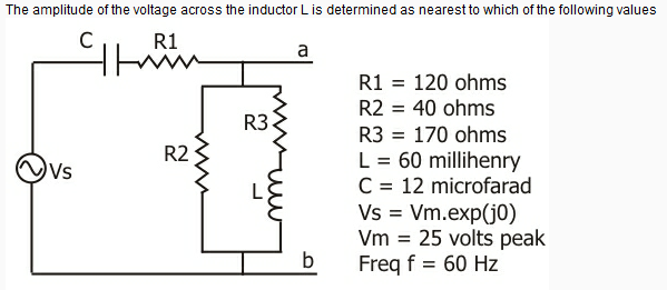 The amplitude of the voltage across the inductor L