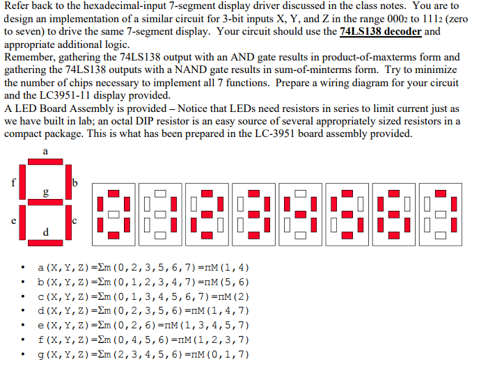 Solved refer back to the hexadecimal input 7 segment disp for Ar 11 6 table 6 2