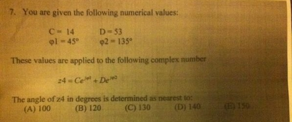 You are given the following numerical values: C =