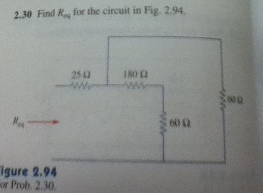 Find Req for the circuit in Fig. 2.94. Figure 2.9