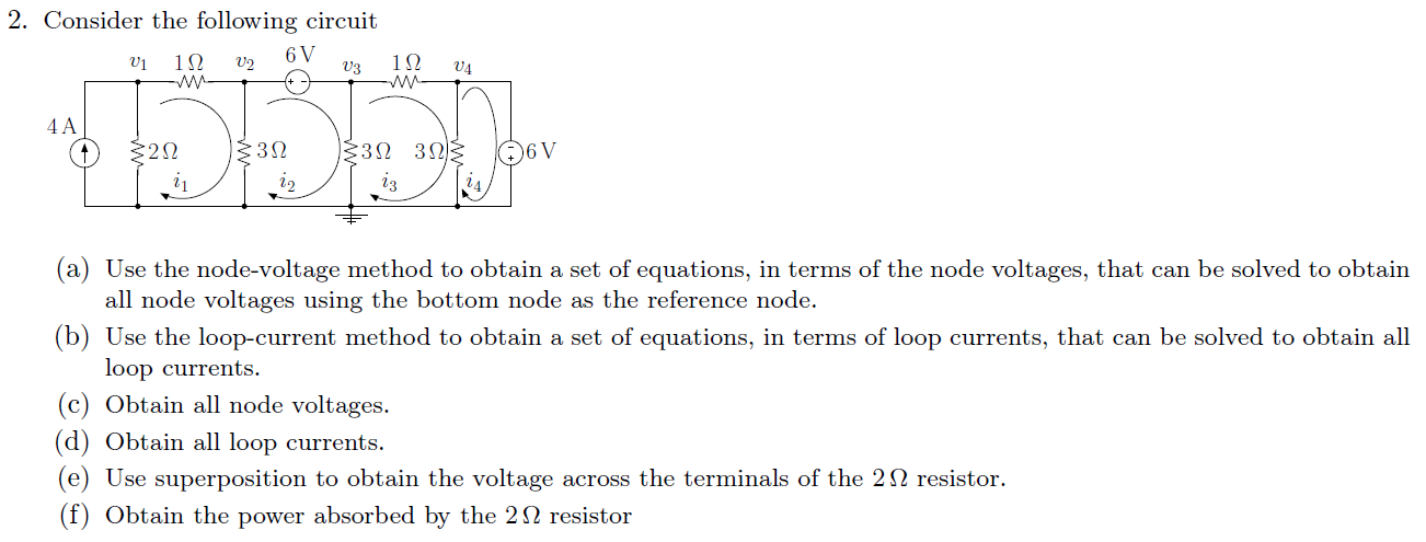 Consider the following circuit Use the node-volta