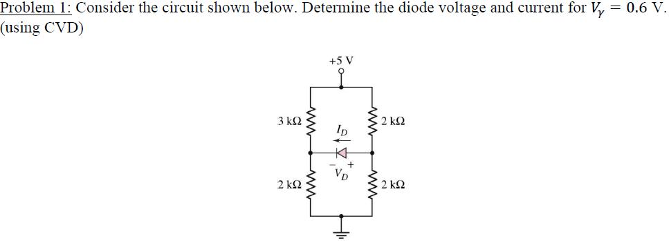 Consider the circuit shown below. Determine the di