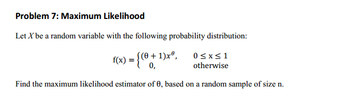 how to find the maximum likelihood estimator pareto