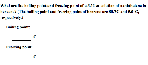 What are the boiling point and freezing point of a