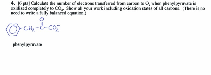 Calculate the number of electrons transferred from