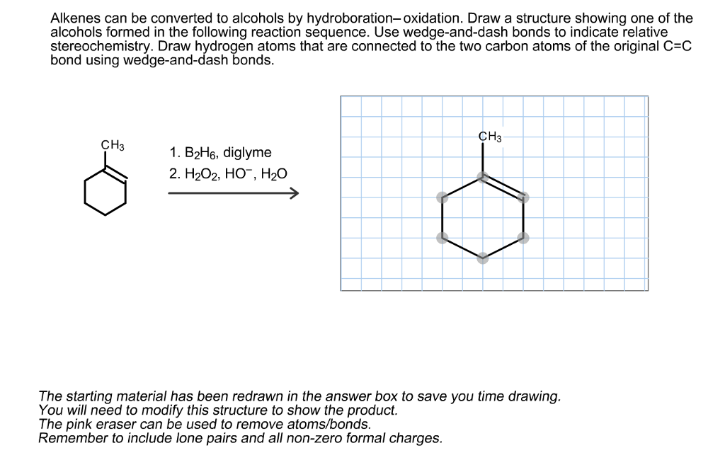 hydroboration atom and hydrogen peroxide Hydrogen bromide and alkenes: the peroxide effect this page gives you the facts and simple uncluttered mechanisms for the free radical addition of hydrogen bromide to alkenes - often known as the peroxide effect.