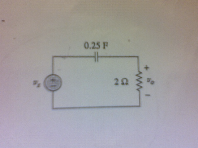 For the circuit shown, (a) use s-domain techniques