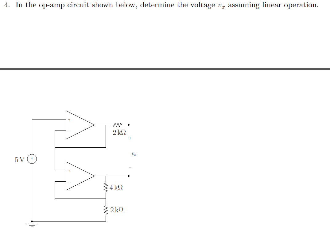 In the op-amp circuit shown below, determine the v