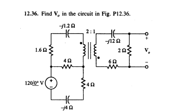 Find Vo in the circuit in Fig. P12.36.