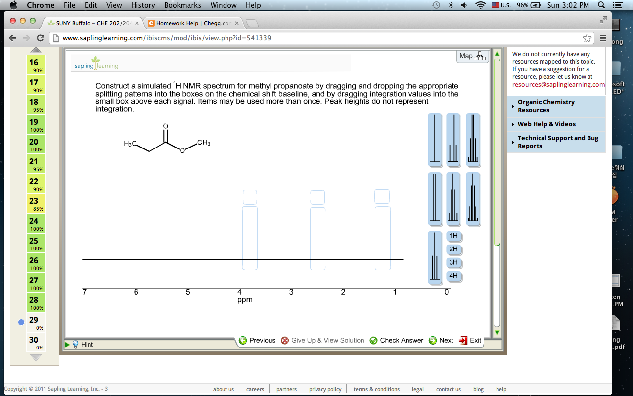 Construct a simulated 1H NMR spectrum for methyl p