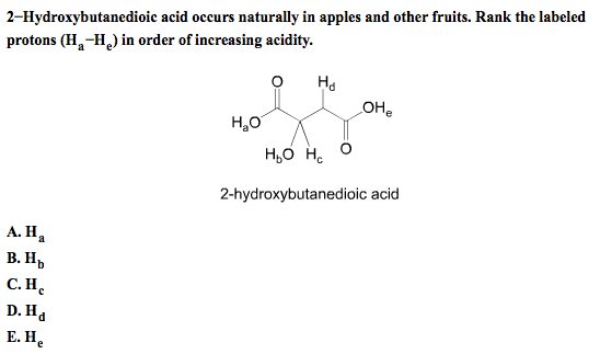 2-Hydroxybutanedioic acid occurs naturally in appl