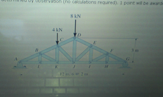Determine as many truss forces and support reactio