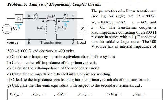 Analysis of Magnetically Coupled Circuits The par