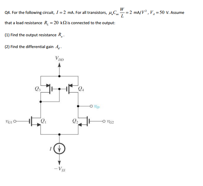 For the following circuit, I = 2 mA. For all trans