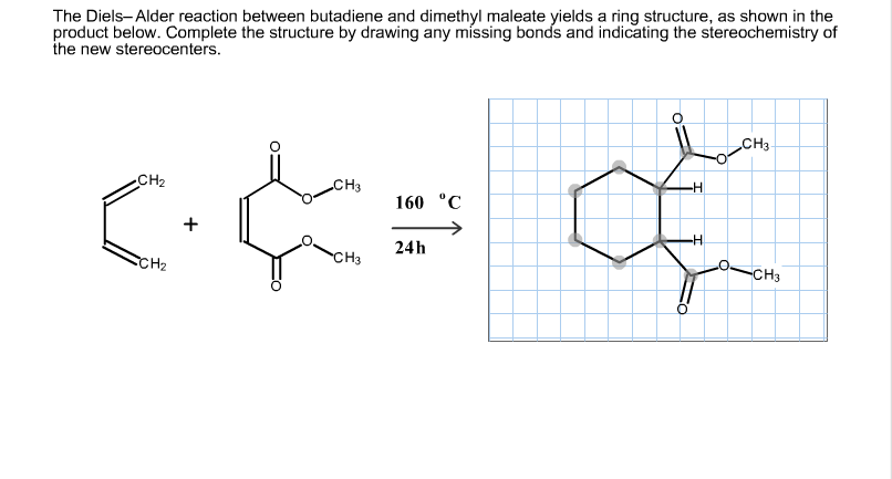 The Diels-Alder reaction between butadiene and dim