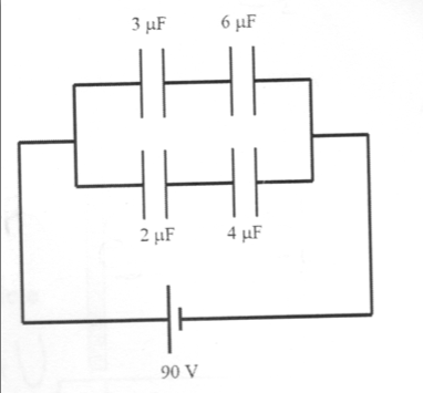 For the system of capacitors shown in the figure,
