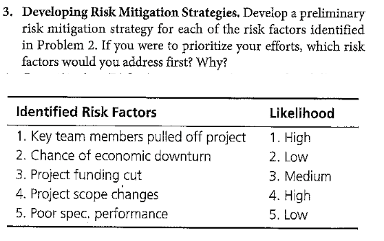 Business Risk Mitigation Plans and Strategies