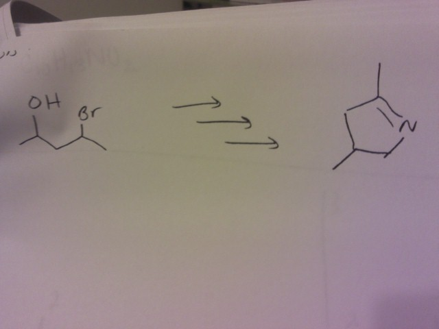 Propose a reasonable synthesis for the reaction: (