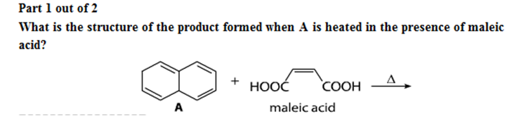 What is the structure of the product formed when A
