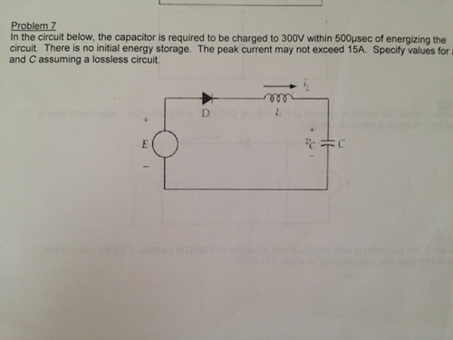 In the circuit below, the capacitor is required to