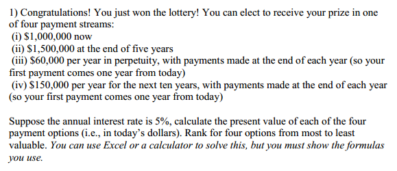 Question about the lottery?