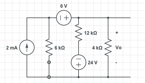 find the thevenin equivalent of the circuit