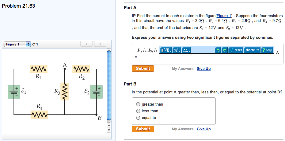 IP Find the current in each resistor in the figure