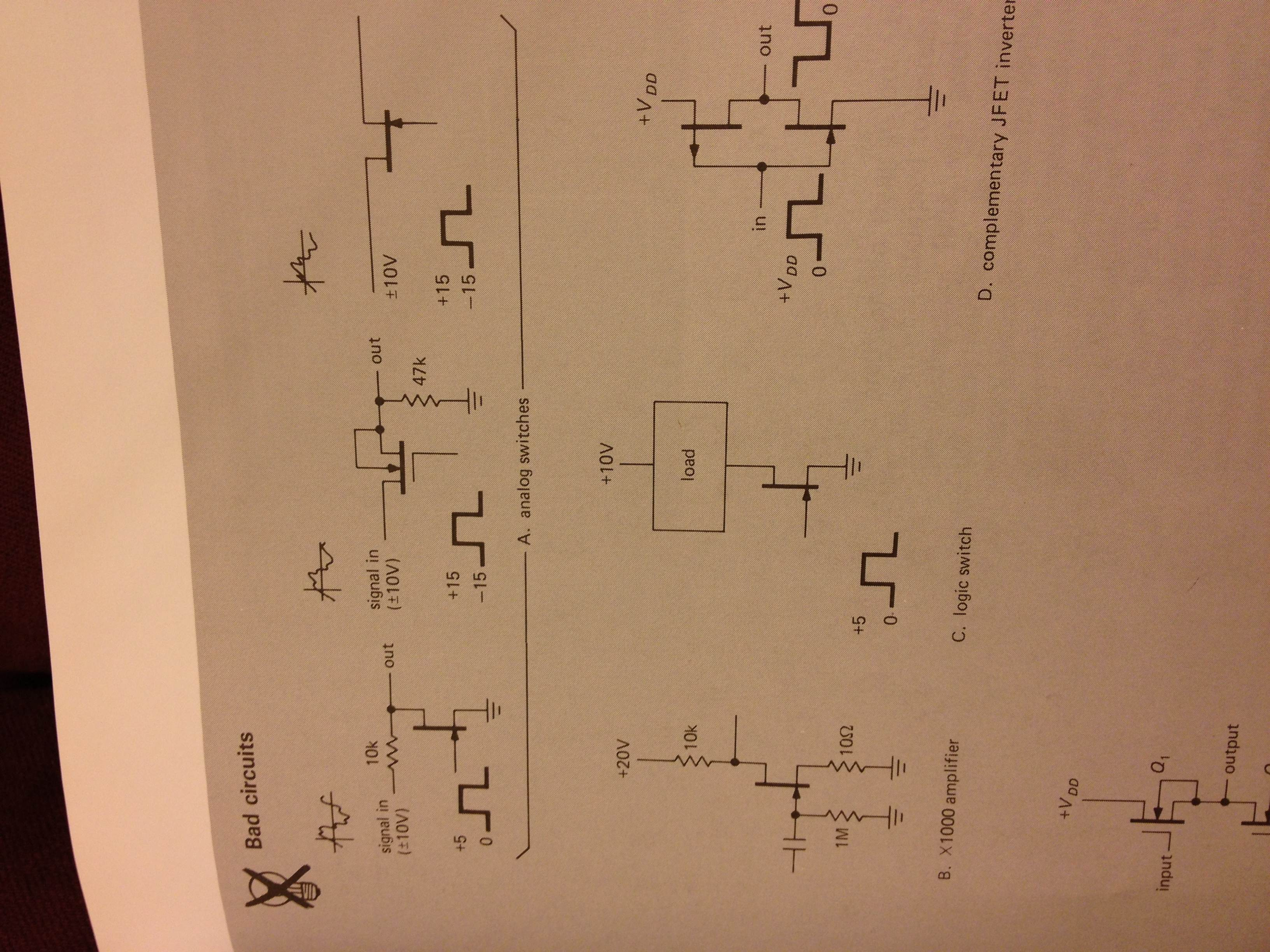 Explain why A.(the three analog switches are bad)